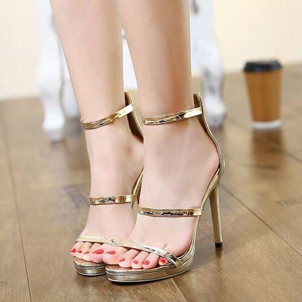 Damens's Sandales 13 cm elegant stiletto gold gold gold comfortable like Leder CW577 052b68