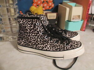 dc2db5d8e7f4 Details about Converse Chuck Taylor All Star 70 Cheetah Pony Hair Hi Tops  Women s 8 men 6