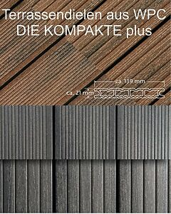 wpc terrassendiele die kompakte plus von deutschen hersteller naturinform ebay. Black Bedroom Furniture Sets. Home Design Ideas
