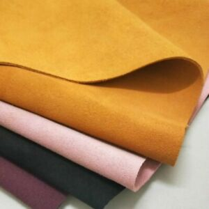 Suede-Genuine-Real-Leather-Fabric-First-Layer-Cowhide-Hide-Cut-Material-Trim-DIY