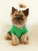 Xxxs Bright Green Short Sleeved Dog T - Shirt Clothes Clothing Teacup Pc Dog®
