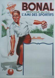 034-BONAL-034-Affiche-originale-entoilee-Litho-Charles-LEMMEL-de-1935-62x83cm