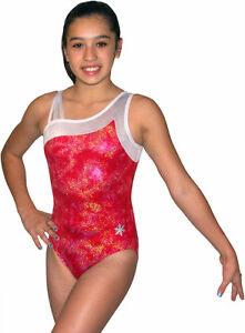 NEW!! Red Slushie Gymnastics Leotard by Snowflake Designs ...