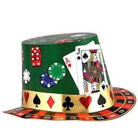 Casino Night Card Party Cards Poker Fun Chips Hat