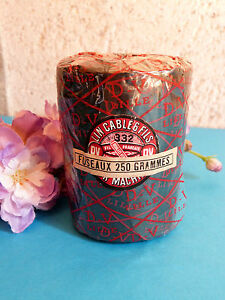 Details about 537# MAGNIFICENT GRAND CONE COIL PURE LINEN WIRE 6 THREADS  BLACK EP  NEW ART