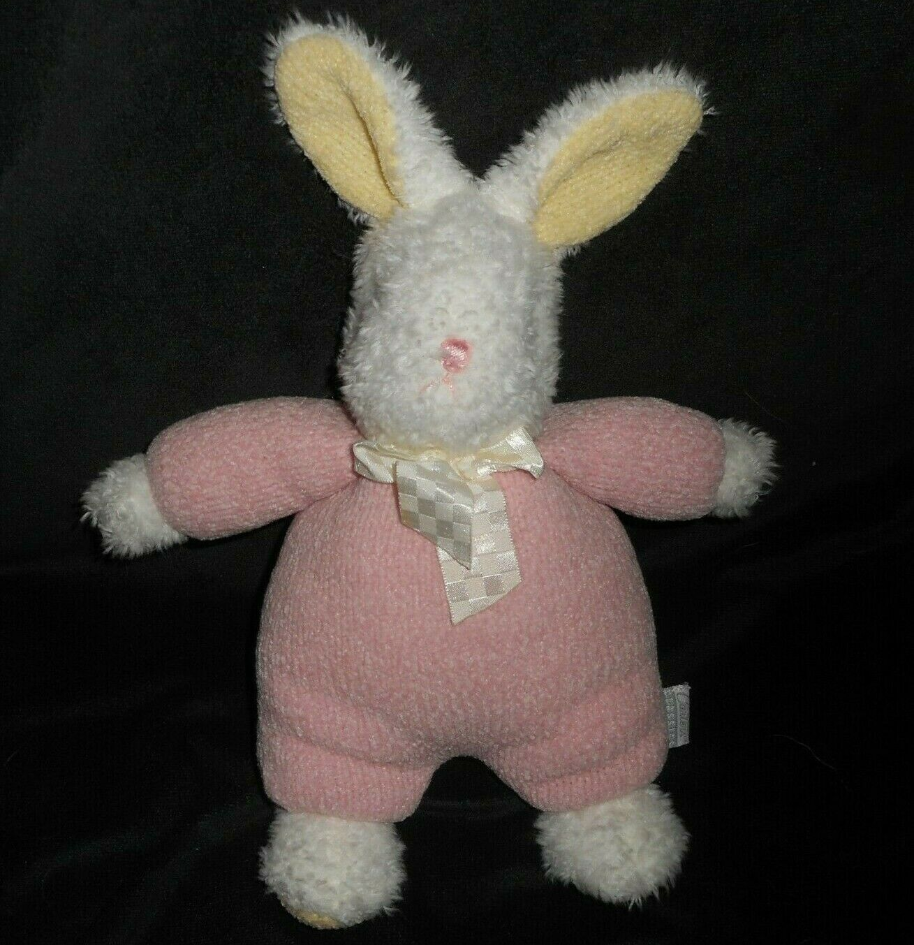 12  CARTER'S CLASSICS rosadodo EASTER BUNNY RABBIT RATTLE STUFFED ANIMAL PLUSH TOY