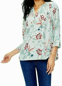 NOT-YOUR-DAUGHTERS-JEANS-NYDJ-THE-PERFECT-BLOUSE-TOP-SZ-1X-SIERRA-POPPY-NWT