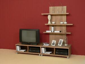 Wohnwand Schrankwand Anbauwand Medienwand Tv Möbel Lowboard