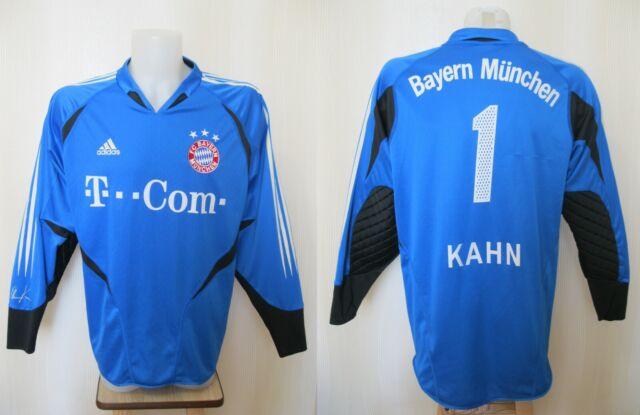 promo code 9a761 b302f FC Bayern Munich #1 Kahn 2004/2005 Goalkeeper Sz L Adidas football shirt  jersey