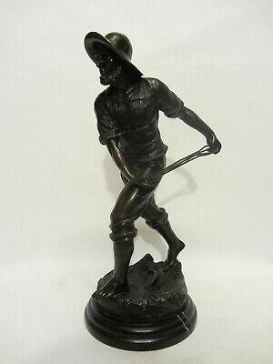 100% Wahr Alte Bronzefigur Fischmann Von Antoine Bofill (1894-1939) Einen Einzigartigen Nationalen Stil Haben