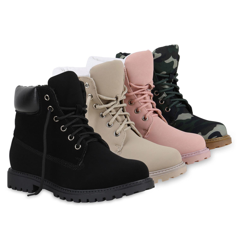 Worker Boots Damen Outdoor Stiefeletten Profilsohle Fester Halt 815027 Schuhe