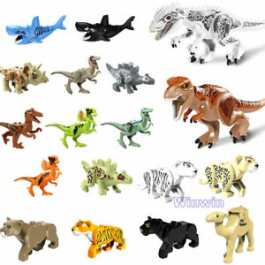 Jungle-Animal-Series-Mini-Figures-Building-Blocks-Set-Panter-Tiger-Dinosaurs-Toy