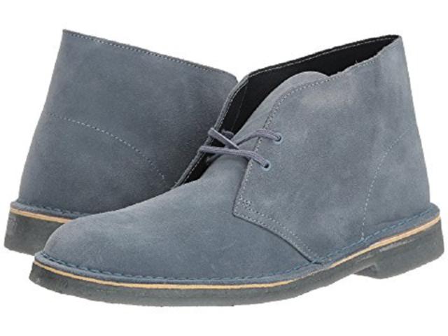 Clarks Men's Desert Boots US 13 M Light Blue Suede Chukka Ankle Shoes $140.00