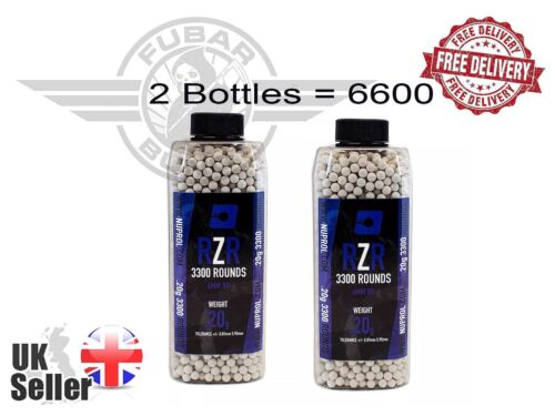2 Canette 0.2 g 6 mm Ammo Highly Polished 5.95 mm Airsoft Nuprol RZR BB /'S 6600