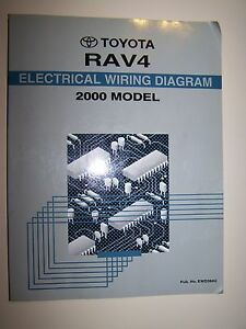 2000 toyota rav4 factory service repair manual electrical wiring rh ebay com
