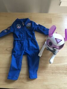 american girl luciana space suit with Robot Dog
