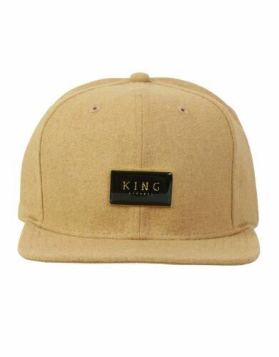King Apparel Nuovo di Zecca sigillo d/'oro 6 PANNELLO Cappellino Cappello Camel