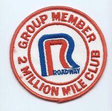 Roadway Group 2 million mile club member driver patch 3-3/4 DIA