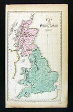 1859 Gall & Inglis Map - Britannia Antiqua - Roman Great Britain Scotland London