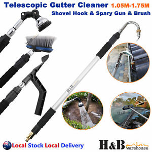 Telescopic Gutter Cleaner Cleaning Tool Wand Car Washer Brush First 10 Big