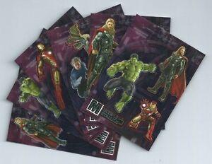 2015 Avengers 2 Age of Ultron insert set multiple metallics triple MT1-MT6