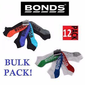 12-x-MENS-BONDS-LOW-CUT-BLACK-SPORTS-ANKLE-BLACK-WHITE-RUNNING-CUSHIONED-SOCKS