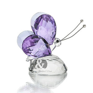H-amp-D-Purple-Crystal-Flying-Butterfly-Paperweight-Animals-Decorative-Collectibles
