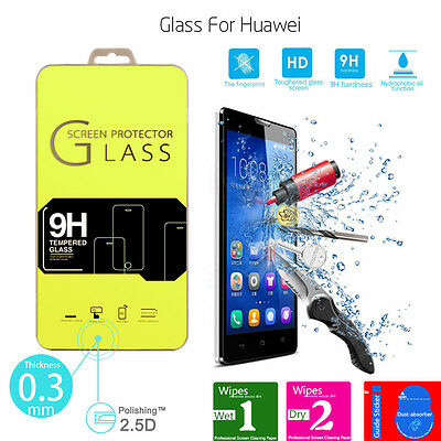Premium 2.5D Real Clear Tempered Glass Film Cover Screen Protector for Huawei
