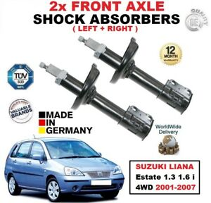 FRONT LEFT RIGHT SHOCK ABSORBERS for SUZUKI LIANA Estate 1.3 1.6 i 4WD 2001-2007