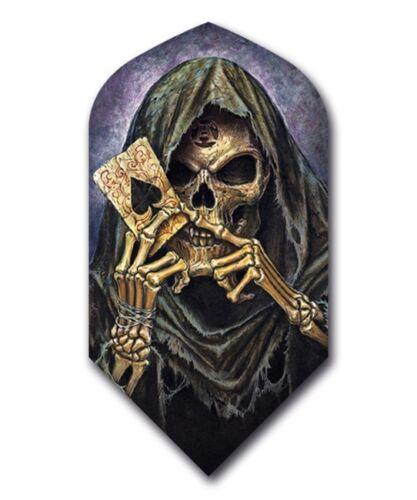 2 Sets ALCHEMY Grim Reaper Slim Dart Flights 100 Micron Ex-Tough  FREE SHIP