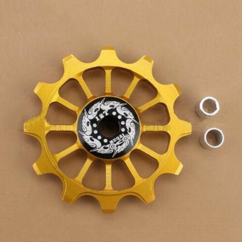 12T Aluminum Alloy Bicycle Rear Derailleur Pulley Ceramic Bearing Jockey Wheel