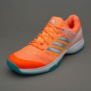 Details about Adidas Womens Girls Adizero Ubersonic 2 Tennis Shoes Orange BB4810 Size UK 4