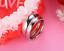 Anello-Coppia-Fedine-Fidanzamento-Amicizia-Amore-Cuore-spezzato-Love-Fedi-Regalo miniatura 1