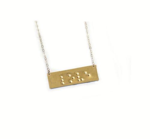 Keychain Bookmark Handmade NEW Love Braille Necklace Hand Stamped Bracelet