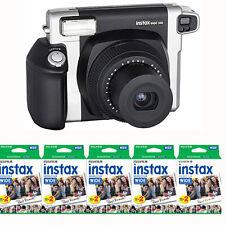 Fujifilm INSTAX 300 Wide Instant Film (Black) Camera + 100 Instax Wide Prints