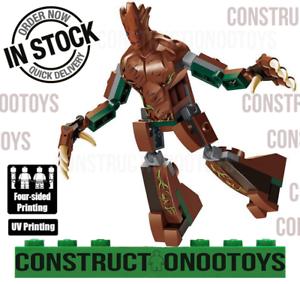 Tree man Groot Big Figure lego Custom PAD UV PRINTED Minifigure Tree man