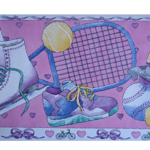 Papier Peint GALON 23 cm Largeur Bordure AS 2433-17 Pink Sports 5 m GALON