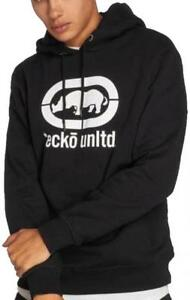 Detalles de Ecko Unlimited Base Sudadera Blanco y Negro Suéter con Capucha Suéter Hombre