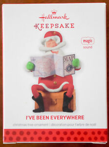 Hallmark - I\'ve Been Everywhere - Santa With Map - Magic Sound ...