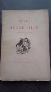 Sueños De Juvenil Chica Dentu Bruselas 1879 Frontispicio Pin Buen Estado