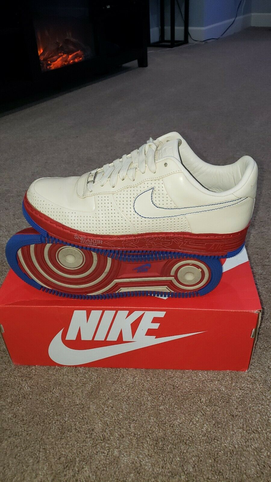 NIKE AIR FORCE 1 I AF1 SPRM MCO (SNEAKER STADIUM Philly) RARE 316077-221 SZ 10.5