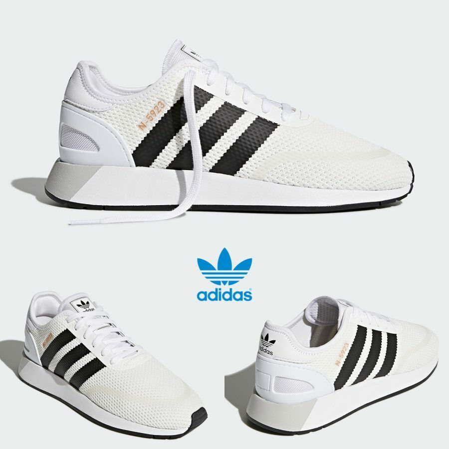 Adidas Original Iniki Runner N-5923 shoes Running White Black  AH2159 SZ 4-11
