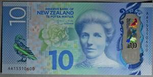 New Zealand 10 Dollars P 192 2015 UNC Low Shipping Combine FREE Polymer 1 note
