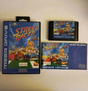 Street Racer Sega Mega Drive, Complete, Great Condition. , PAL Version