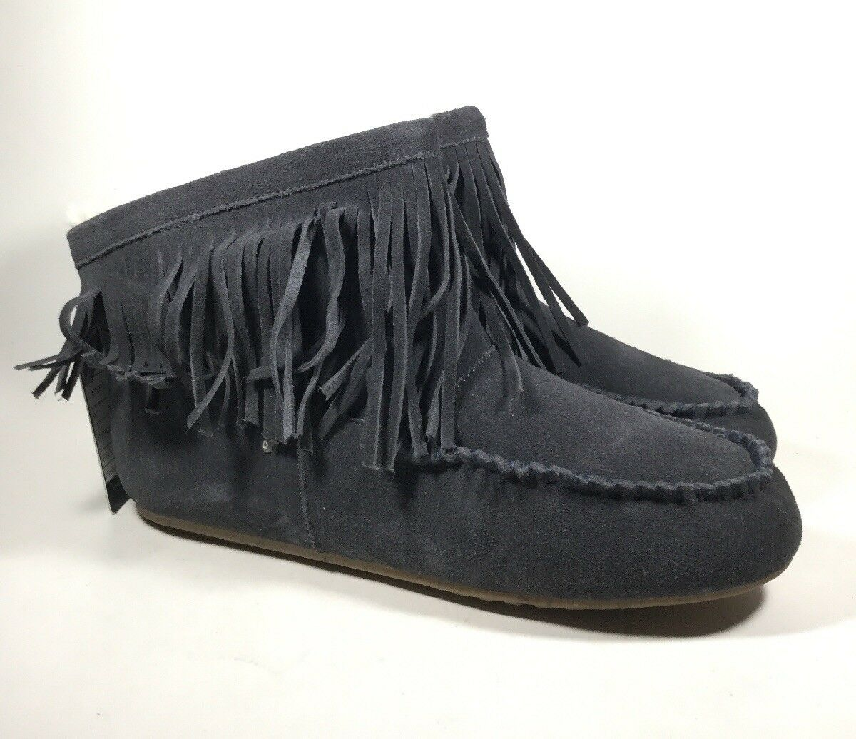 M4176 New Women's Emu Australia Cayote Indigo Fringe Boot US 7 M