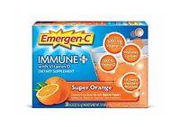 Emergen-c Immune+ Dietary Supplement (super Orange Flavor 30-co... Free Shipping