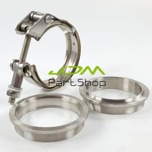 """3.0/"""" Quick Release V Band Clamp Kit 76mm Turbo Exhaust Downpipe Stainless Steel"""