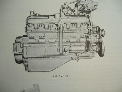 Cummins Engine PARTS CATALOG Book List Manual NVH-450 VT-600 Shop Service OEM