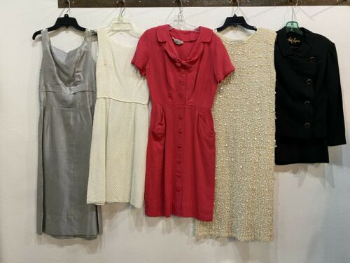 Vintage Clothing 5 Lot Womens 50s 60s Mixed Resale