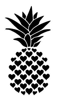 A4 /& A3 PINE APPLE FRUIT MYLAR STENCIL HOME DECOR PAINTING WALL ART 190 MICRON